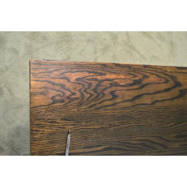 j.k. Rishel Antique Arts & Crafts Mission Oak Library Table Desk No. 811 For Sale In Philadelphia - Image 6 of 13