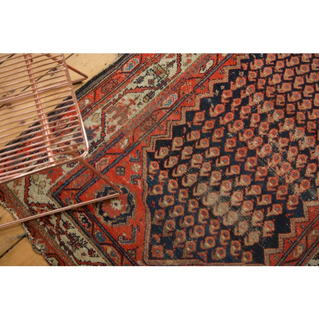 "1920s Antique Hamadan Rug - 4' x 6'3"" For Sale - Image 5 of 11"
