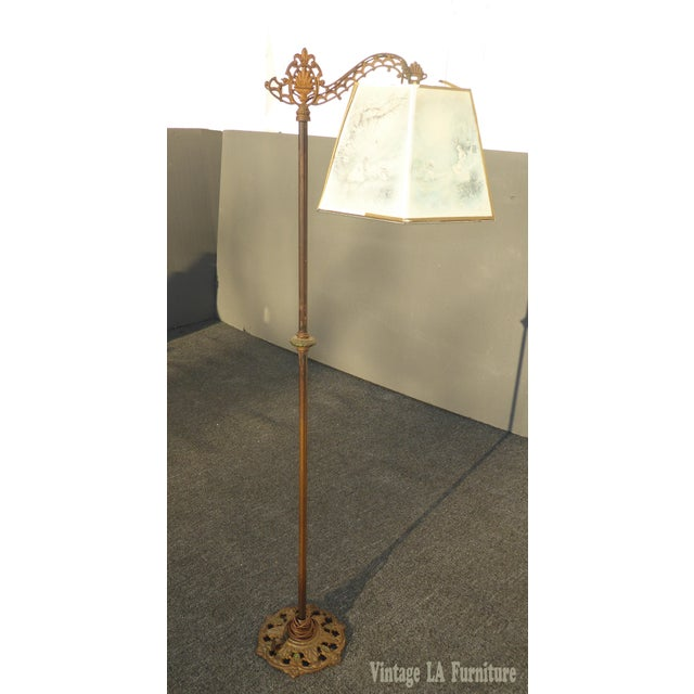 Antique Andres Orpinas Victorian French Country Metal Floor Lamp - Image 2 of 10
