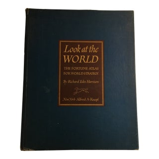 1944 Fortune Atlas Look at the World Book For Sale
