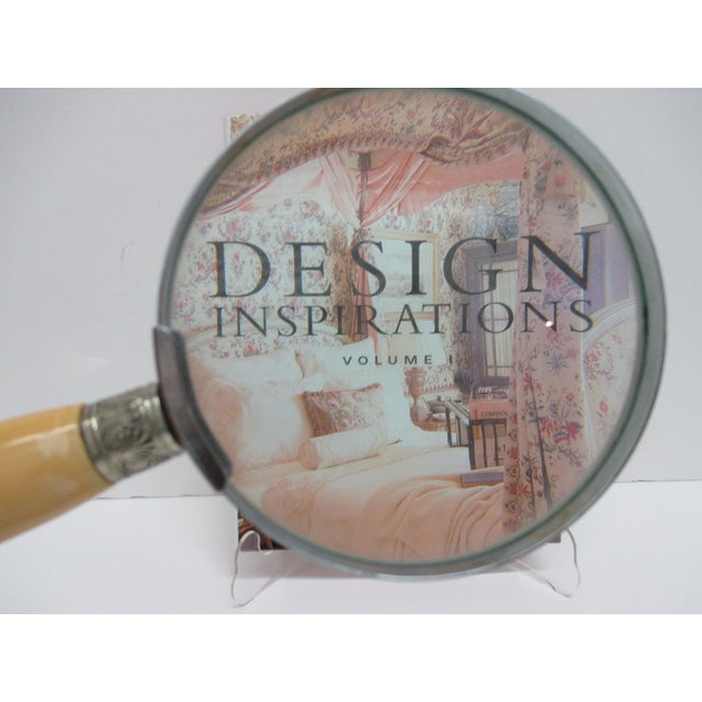 Late 20th Century Round Bakelite & Chrome Magnifying Reading Glass For Sale - Image 5 of 6
