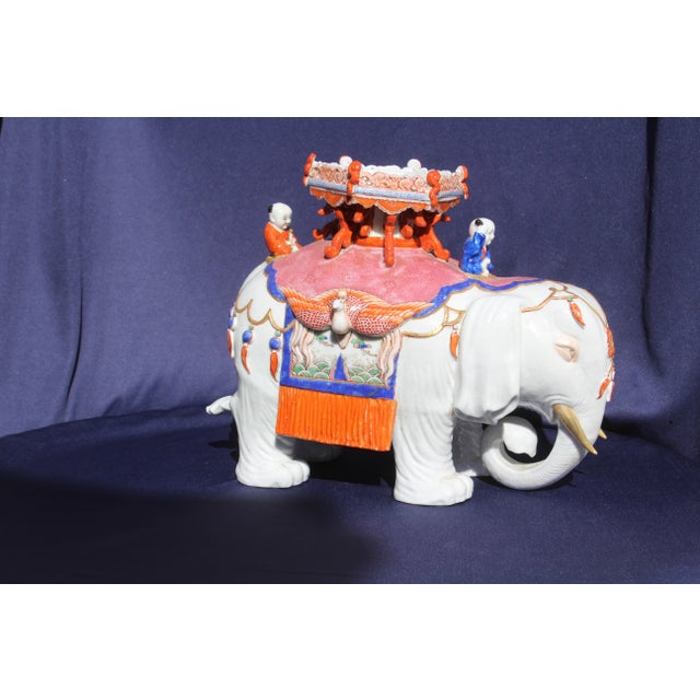 Ceramic Chinese Porcelain Elephant For Sale - Image 7 of 9