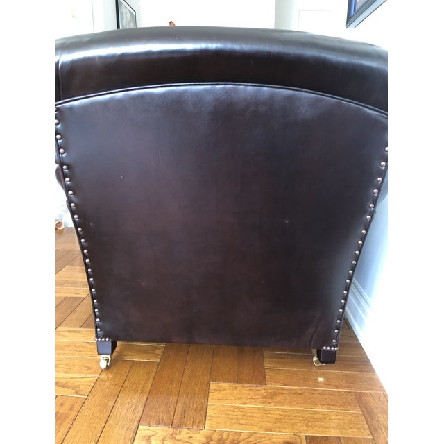 2000 - 2009 George Smith Standard Arm Signature Chair in Leather For Sale - Image 5 of 10