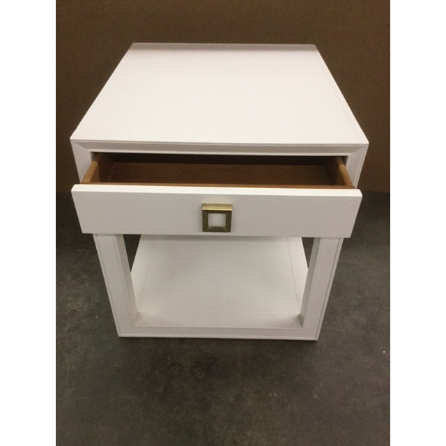"""Malibu Loft"" Single Drawer White Side Table For Sale - Image 5 of 6"