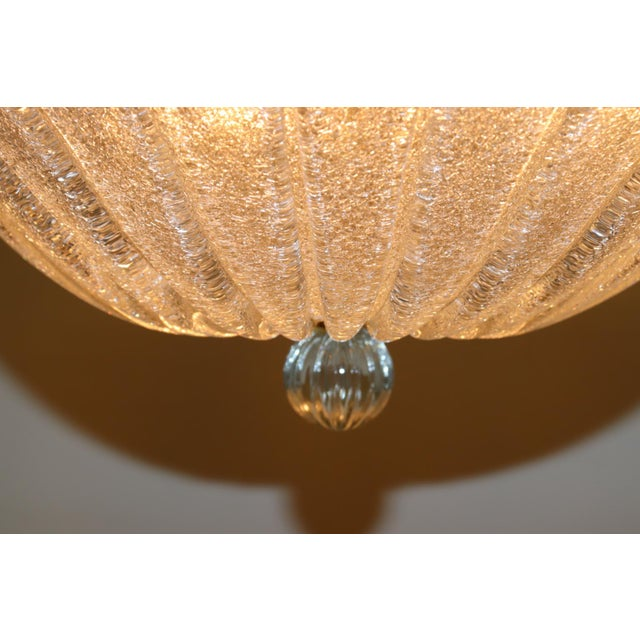 Glass Vintage Mid-Century Modern Murano Glass Pendant Lamp For Sale - Image 7 of 13