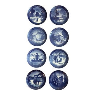 Royal Copenhagen Blue and White Christmas Plates For Sale