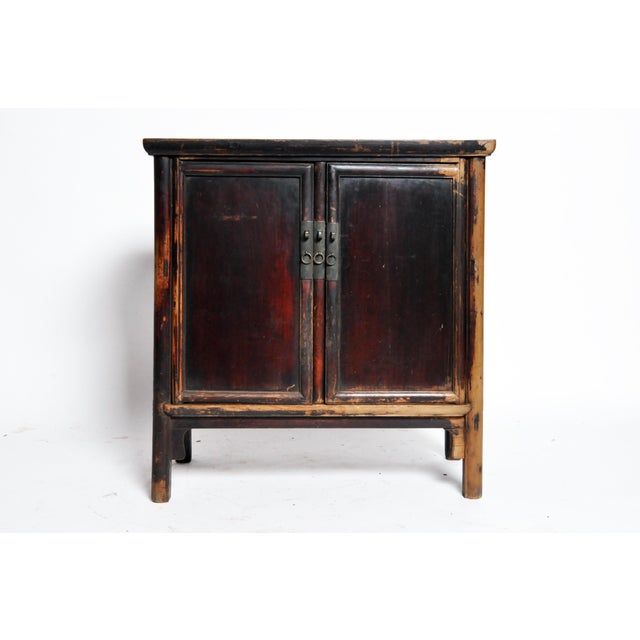 17th Century Qing Dynasty Round Post Chest With Two Drawers and Original Patina For Sale - Image 13 of 13