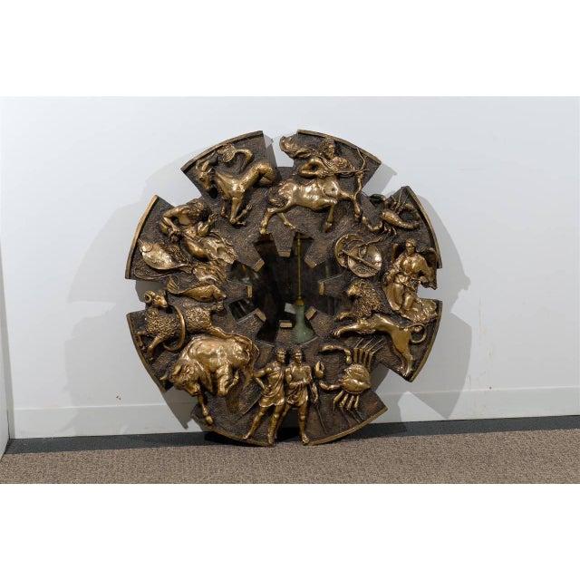 Brutalist Dramatic Brutalist Zodiac Mirror For Sale - Image 3 of 8