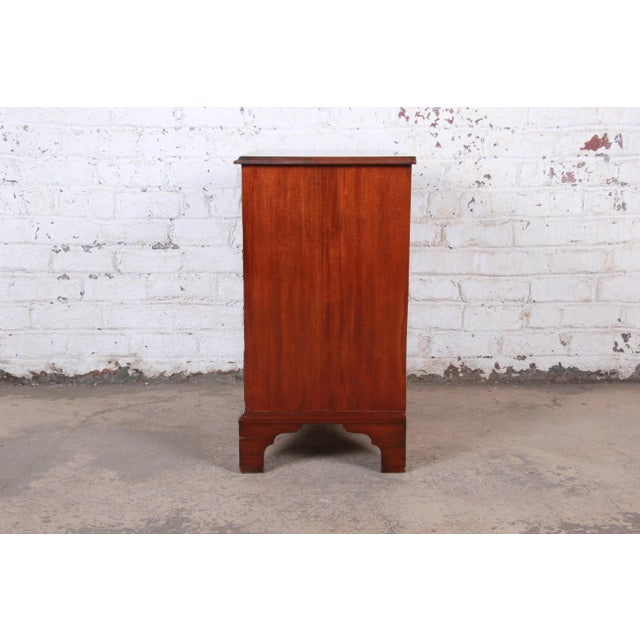 Vintage Georgian Mahogany Bachelor Chest or Commode For Sale - Image 9 of 10
