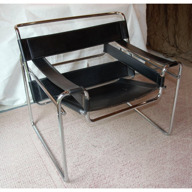 Vintage Wassily Chair, in the Style of Marcel Breuer For Sale - Image 11 of 11