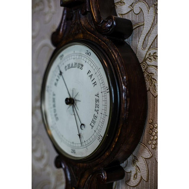 English Traditional 19th-Century Mercury Barometer-Weather Station For Sale - Image 3 of 9