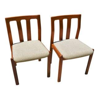 Dyrlund Danish Modern Teak Dining Chairs- A Pair For Sale