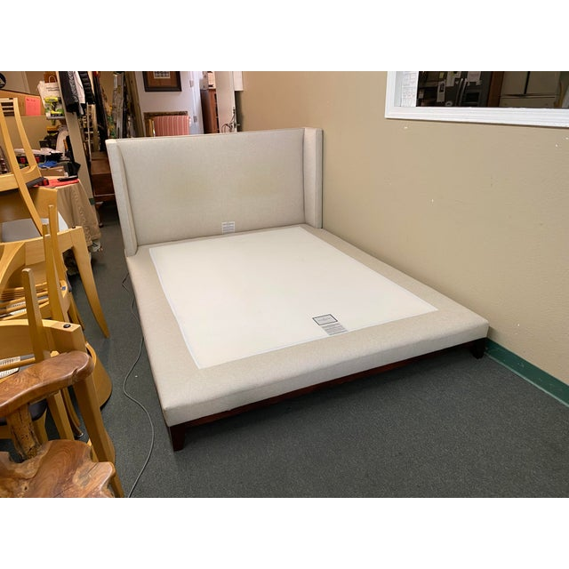 Contemporary Queen Size Williams-Sonoma Home Presidio Platform Bed Frame For Sale - Image 3 of 13