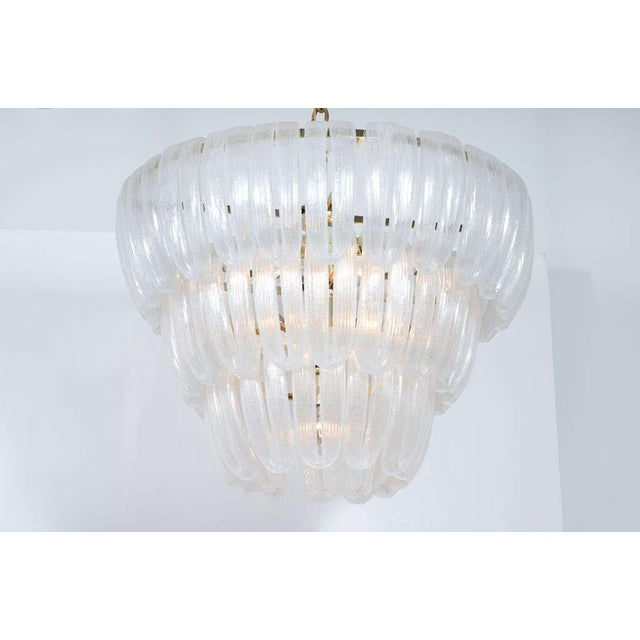Italian Hand Blown Glass Loop Chandelier after Barovier & Toso For Sale - Image 3 of 10