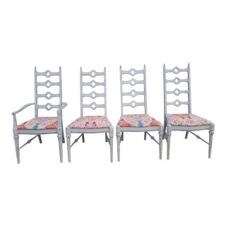 Vintage Boho Dining Chairs - Set of 4