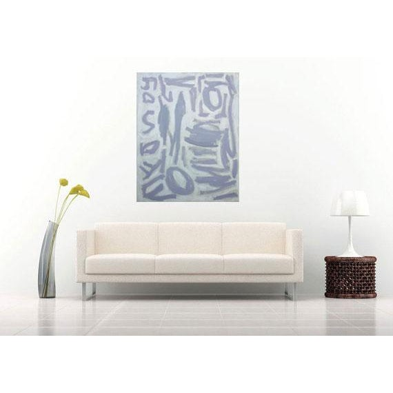 """Susie Kate """"Gray and White Abstract"""" Painting - Image 2 of 2"""