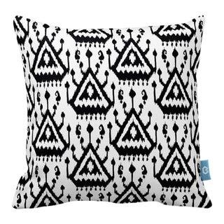 Black & White Ikat Design Pillow Cover
