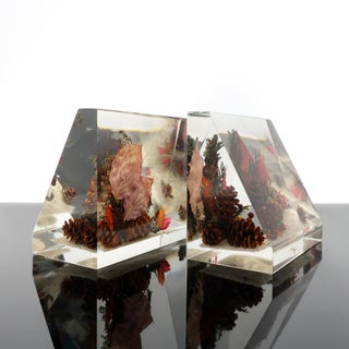 Vintage Clearfloat Lucite Bookends Preview