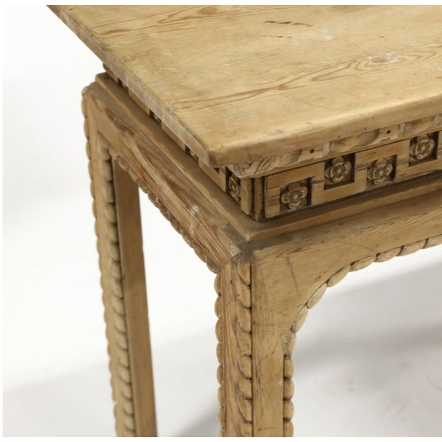 Vintage Italian Carved Console Tables - a Pair For Sale - Image 4 of 11