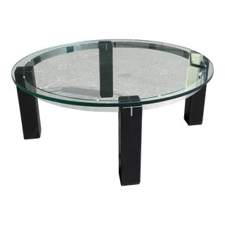Mid-Century Glass-Top Coffee Table For Sale