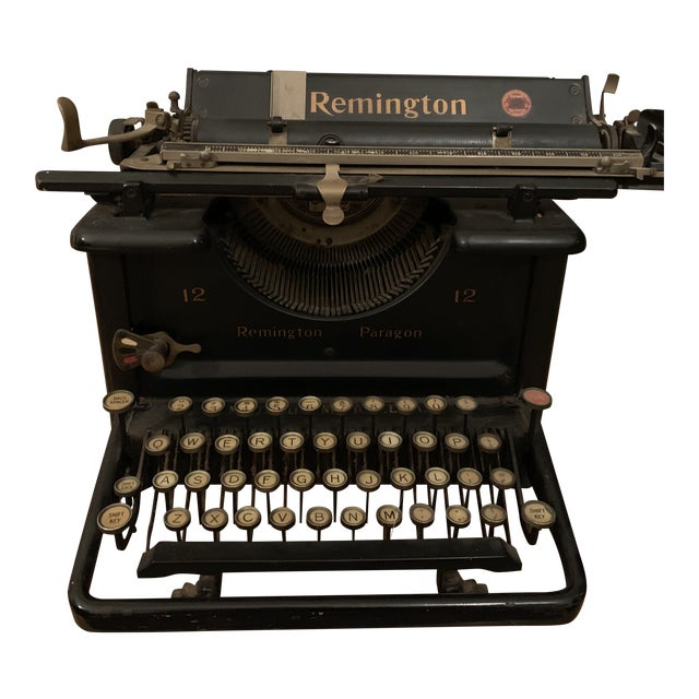 1930s Vintage Remington Paragon 12 Typewriter