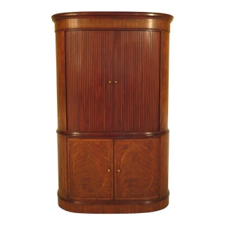 Henkel Harris Mahogany Armoire With Tambour Doors