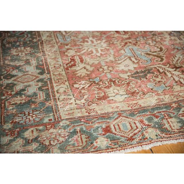 "Farmhouse Vintage Distressed Heriz Carpet - 6'8"" X 9'6"" For Sale - Image 3 of 13"
