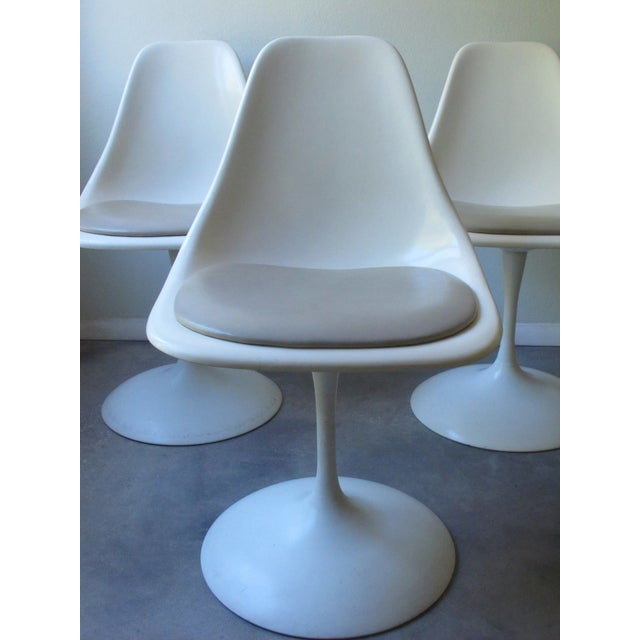 Mid-Century Tulip Burke Dining Swivel Chairs - S/4 - Image 4 of 9