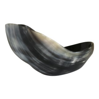 Sculptural Tortoise Shell Horn Bowl