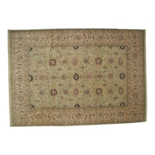 "Hand-Woven Agra Carpet - 12'7"" x 8'10"" For Sale"