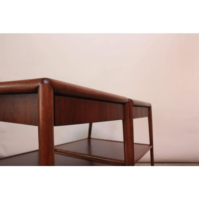 Pair of T. H. Robsjohn-Gibbings Single Drawer End Tables - Image 7 of 10