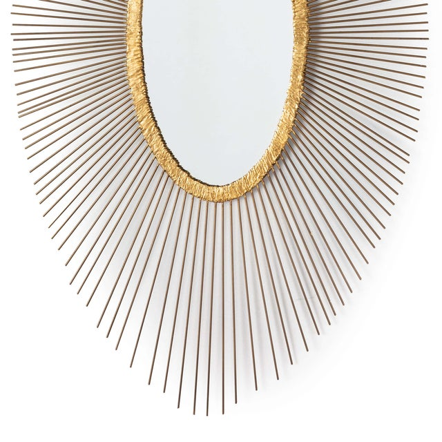 Traditional Sedona Oval Mirror For Sale - Image 3 of 5