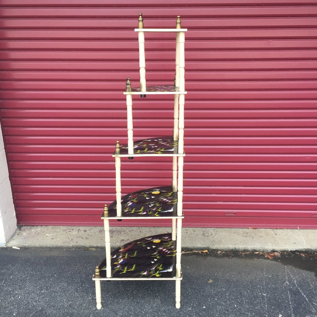 Chinoiserie 5 Tier Corner Shelf For Sale - Image 5 of 11
