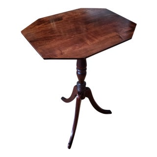 Conant-Ball Mahogany Octagonal Tripod Candle Stand Table For Sale