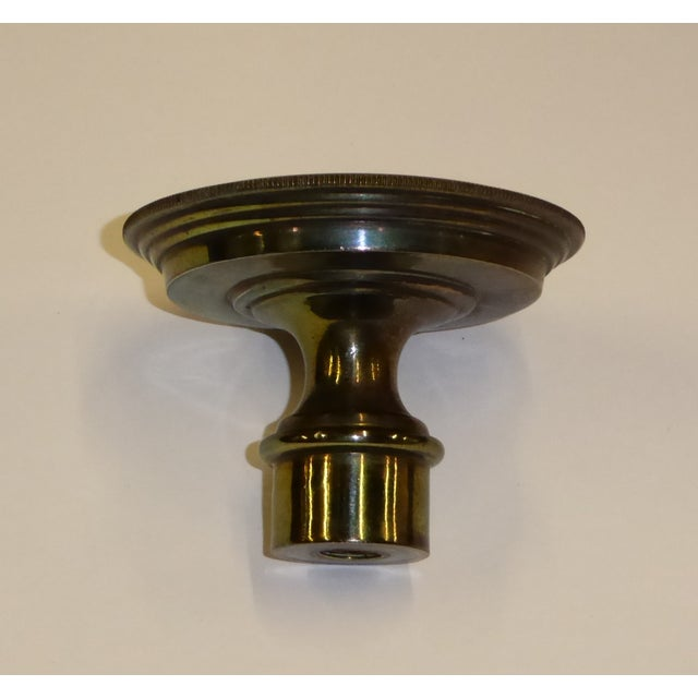 1940s Tall Hollywood Regency Faux Oil Table Lamp For Sale - Image 9 of 11