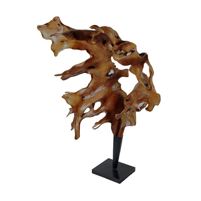 Organic Modern High Large Floor Sculpture For Sale - Image 4 of 7