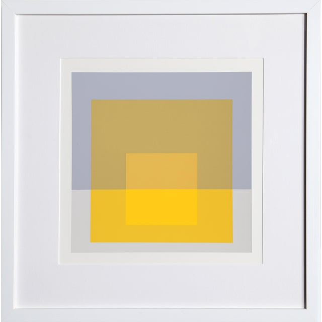 Josef Albers Josef Albers - Portfolio 2, Folder 5, Image 1 Framed Silkscreen For Sale - Image 4 of 4