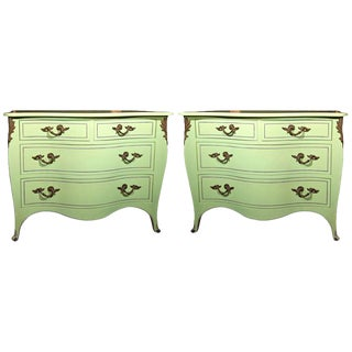 1960s Vintage Chartreuse Commodes- a Pair For Sale
