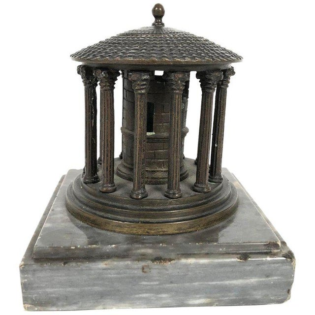 Gold 19th Century Neoclassical Grand Tour Bronze Model of the Temple of Vesta, Rome For Sale - Image 8 of 8