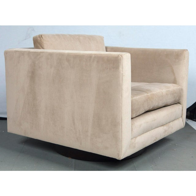 Harvey Probber Swivel Cube Chairs - a Pair For Sale - Image 9 of 12