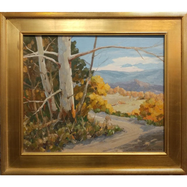 Victor Matson -Sycamore Trees-Beautiful California Plein-Air Landscape-Oil painting Oil painting on canvas -Signed Frame...