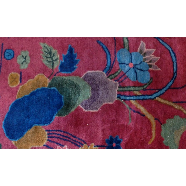 1920s Antique Art Deco Chinese Rug - 8′10″ × 11′8″ - Image 8 of 8