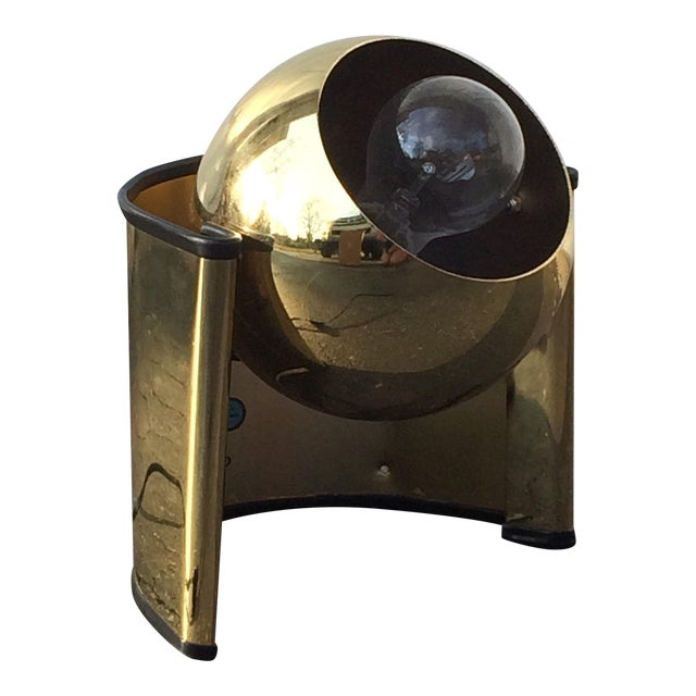 Mid-Century Golden Table Lamp - Image 1 of 7
