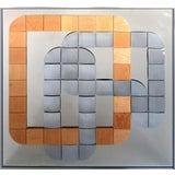 Image of Hal Bienenfeld Geometric Op Art Decorative Mirrored Wall Sculpture For Sale