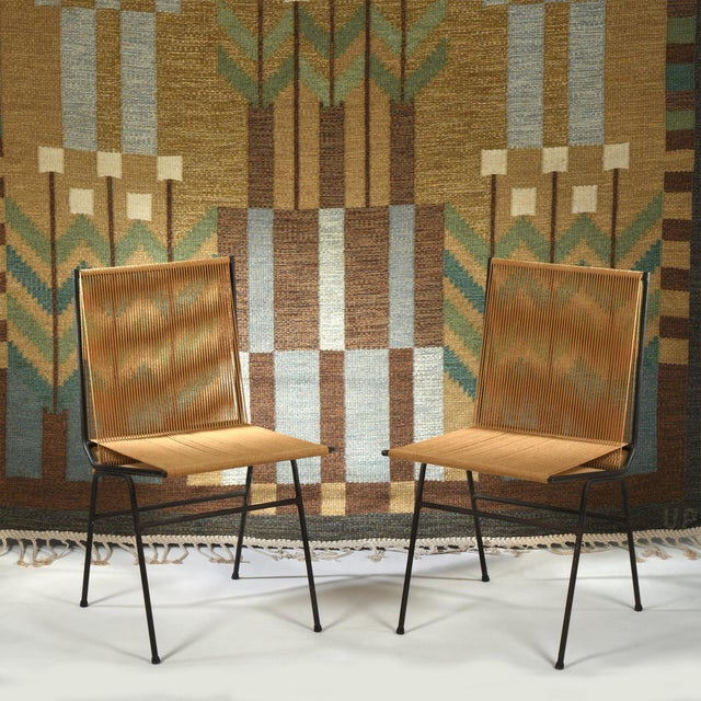 1950s Allan Gould String Side Chairs - a Matched Pair, Circa 1952 For Sale - Image 5 of 7
