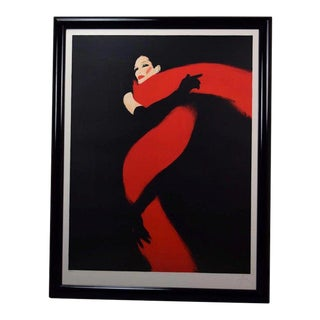 """René Gruau Signed Limited Edition """"Rouge Et Noir"""" Lithograph For Sale"""