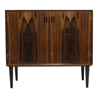 Small Danish Rosewood Cabinet With Brass Hinges For Sale