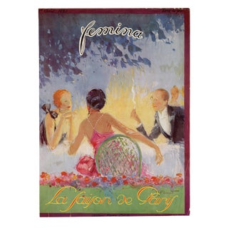 """""""Femina, August 1923"""" Original Vintage French Magazine Cover For Sale"""