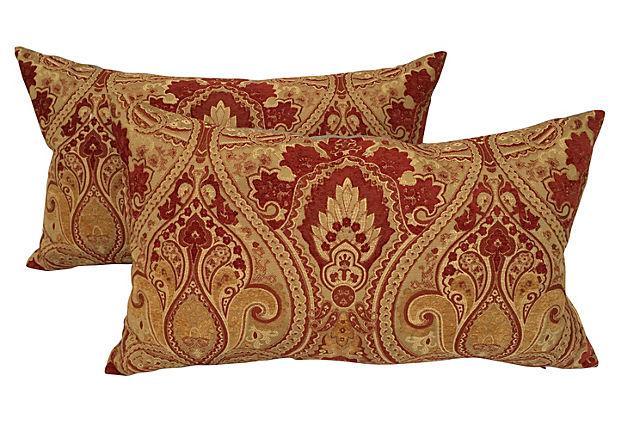 Velvet Fleur De Lis Pillows A Pair Chairish