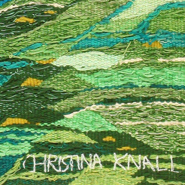 Mid 20th Century Scandinavian Landscape Tapestry Rug by Christina Knall - 3′ 10″ × 5′ For Sale - Image 5 of 8